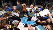 15 February 2017; Jamal Wilson of Bahamas signs autographs during the AIT International Athletics Grand Prix at the AIT International Arena in Athlone, Co. Westmeath. Photo by Sam Barnes/Sportsfile