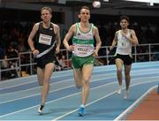 15 February 2017; John Travers, left, and Kieran Kelly of Ireland competing in the Senior Men's Mile during the AIT International Athletics Grand Prix at the AIT International Arena in Athlone, Co. Westmeath. Photo by Sam Barnes/Sportsfile