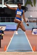 15 February 2017; Chantel Malone of British Virgin Islands in action during the AIT International Athletics Grand Prix at the AIT International Arena in Athlone, Co. Westmeath. Photo by Sam Barnes/Sportsfile
