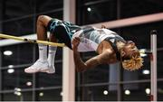 15 February 2017; Jamal Wilson of Bahamas competing in the Senior Men's High Jump during the AIT International Athletics Grand Prix at the AIT International Arena in Athlone, Co. Westmeath. Photo by Sam Barnes/Sportsfile