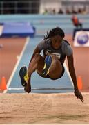 15 February 2017; Lorraine Ugen of Great Britain on her way to winning the Senior Women's Long Jump during the AIT International Athletics Grand Prix at the AIT International Arena in Athlone, Co. Westmeath. Photo by Sam Barnes/Sportsfile