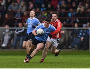 29 January 2017; Conor Mullally of Dublin in action against Derek Maguire of Louth during the Bord na Mona O'Byrne Cup Final match between Louth and Dublin at the Gaelic Grounds in Drogheda, Co Louth. Photo by Ray McManus/Sportsfile