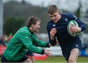 17 February 2017; Garry Ringrose, right, and Kieran Marmion of Ireland during an open training session at the Monaghan RFC grounds in Co. Monaghan. Photo by Seb Daly/Sportsfile
