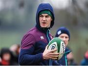 17 February 2017; Jonathan Sexton of Ireland during an open training session at the Monaghan RFC grounds in Co. Monaghan. Photo by Seb Daly/Sportsfile