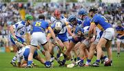 10 July 2011; A general view of the action involving left to right, Brian O'Sullivan, Waterford, Eoin McGrath, Waterford, Gearóid Ryan, Tipperary, Paddy Stapleton, Tipperary, Shane O'Sullivan, Waterford, Pauric Mahony, Waterford, Michael Cahill, Tipperary, Shane Walsh, Waterford, and Paul Curran, Tipperary. Munster GAA Hurling Senior Championship Final, Waterford v Tipperary, Pairc Ui Chaoimh, Cork. Picture credit: Ray McManus / SPORTSFILE