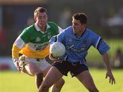23 Februa ry 2002; Senan Connell, Dublin, in action against Barry Mooney, Offaly. Allianz National Football League, Offaly v Dublin, O'Connor Park, Tullamore, Co. Offaly. Picture credit; Damien Eagers / SPORTSFILE