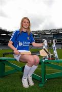11 June 2013; The Liberty Insurance Camogie Championship was launched at Croke Park this afternoon with players from participating counties joining to mark the start of championship 2013 with President of the Camogie Association Aileen Lawlor, CEO of Liberty Insurance Pat O'Brien and Uachtarán Chumann Lúthchleas Gael Liam Ó Néill. Twenty four counties, across five grades, will commence their All-Ireland campaigns on June 22nd. Liberty Insurance is the first ever sponsor of both the GAA Hurling and Camogie All-Ireland Senior Championships in a five-year deal with the GAA. Pictured at today's launch is camogie player Niamh Mulcahy, Limerick. Croke Park, Dublin. Picture credit: Brian Lawless / SPORTSFILE