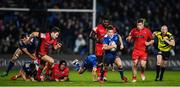17 February 2017; Luke McGrath of Leinster makes a break during the Guinness PRO12 Round 15 match between Leinster and Edinburgh at the RDS Arena in Ballsbridge, Dublin. Photo by Stephen McCarthy/Sportsfile