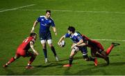 17 February 2017; Joey Carbery of Leinster is tackled by Phil Burleigh of Edinburgh during the Guinness PRO12 Round 15 match between Leinster and Edinburgh at the RDS Arena in Ballsbridge, Dublin. Photo by Ramsey Cardy/Sportsfile