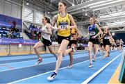 18 February 2017; Ciara Mageean, UCD, AC, Dublin, leads Fionnuala McCormack, Sli Cualann AC, Wicklow, on her way to winning the Women's 3000m Final during the Irish Life Health National Senior Indoor Championships at the Sport Ireland National Indoor Arena in Abbotstown, Dublin. Photo by Brendan Moran/Sportsfile