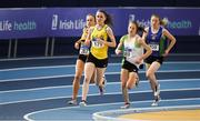 18 February 2017; Ciara Mageean, UCD, AC, Dublin, leads Michelle Finn, Leevale AC, Cork, Fionnuala McCormack, Sli Cualann AC, Wicklow, and Emma Mitchell, Queen's University AC, Antrim, on her way to winning the Women's 3000m Final during the Irish Life Health National Senior Indoor Championships at the Sport Ireland National Indoor Arena in Abbotstown, Dublin. Photo by Brendan Moran/Sportsfile