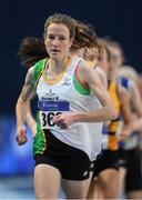 18 February 2017; Fionnuala McCormack, Sli Cualann AC, Wicklow, leads the field on her way to finishing third in the Women's 3000m Final during the Irish Life Health National Senior Indoor Championships at the Sport Ireland National Indoor Arena in Abbotstown, Dublin. Photo by Brendan Moran/Sportsfile