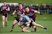 18 February 2017; Paul Mannion of University College Dublin in action against Aaron McKay, left, and Kieran McGeary of St. Mary's University Belfast during the Independent.ie HE GAA Sigerson Cup Final match between University College Dublin and St. Mary's University Belfast at the Connacht GAA Centre in Bekan, Co. Mayo. Photo by Matt Browne/Sportsfile
