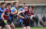 18 February 2017; Conor Meyler of St. Mary's University Belfast in action against Paul Mannion of University College Dublin during the Independent.ie HE GAA Sigerson Cup Final match between University College Dublin and St. Mary's University Belfast at the Connacht GAA Centre in Bekan, Co. Mayo. Photo by Matt Browne/Sportsfile