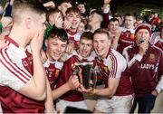 18 February 2017; Our Lady's Templemore players celebrate with the cup after the Dr. Harty Cup Final match between Our Lady's Templemore and St. Colman's Fermoy at the Gaelic Grounds in Limerick. Photo by Diarmuid Greene/Sportsfile