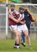 18 February 2017; Gearoid O'Connor, left, and Jack Ryan of Our Lady's Templemore celebrate after the Dr. Harty Cup Final match between Our Lady's Templemore and St. Colman's Fermoy at the Gaelic Grounds in Limerick. Photo by Diarmuid Greene/Sportsfile