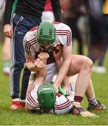 18 February 2017; Paddy Cadell, above, and Brian McGrath of Our Lady's Templemore celebrate at the final whistle after the Dr. Harty Cup Final match between Our Lady's Templemore and St. Colman's Fermoy at the Gaelic Grounds in Limerick. Photo by Diarmuid Greene/Sportsfile