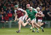 18 February 2017; Brian McGrath of Our Lady's Templemore in action against Eóin Wallace of St. Colman's Fermoy during the Dr. Harty Cup Final match between Our Lady's Templemore and St. Colman's Fermoy at the Gaelic Grounds in Limerick. Photo by Diarmuid Greene/Sportsfile