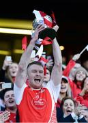 18 January 2017; Mayfield captain Shane O'Donovan lifts the cup after the AIB GAA Hurling All-Ireland Junior Club Championship final match between Mayfield and Mooncoin at Croke Park in Dublin. Photo by Piaras Ó Mídheach/Sportsfile