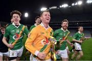 18 February 2017; Carrickshock goalkeeper Jamie Power celebrates with the cup after the AIB GAA Hurling All-Ireland Intermediate Club Championship final match between Ahascragh - Foghenach and Carrickshock at Croke Park in Dublin. Photo by Piaras Ó Mídheach/Sportsfile