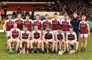 18 February 2017; The Our Lady's Templemore team before the Dr. Harty Cup Final match between Our Lady's Templemore and St. Colman's Fermoy at the Gaelic Grounds in Limerick. Photo by Diarmuid Greene/Sportsfile