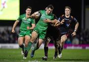 18 February 2017; Craig Ronaldson of Connacht is tackled by Ollie Griffiths of Newport Gwent Dragons during the Guinness PRO12 Round 15 match between Connacht and Newport Gwent Dragons at the Sportsground in Galway. Photo by Ramsey Cardy/Sportsfile