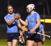 18 February 2017; Dublin players Ryan O'Dwyer, left, and Liam Rushe following the Allianz Hurling League Division 1A Round 2 match between Cork and Dublin at Páirc Uí Rinn in Cork. Photo by Stephen McCarthy/Sportsfile