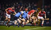 18 February 2017; Cork players, from left, Killian Burke, Mark Ellis and Damien Cahalane in action against Eoghan Conroy, left, and Ryan O'Dwyer of Dublin during the Allianz Hurling League Division 1A Round 2 match between Cork and Dublin at Páirc Uí Rinn in Cork. Photo by Stephen McCarthy/Sportsfile