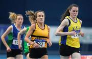 18 February 2017; Ciara Mageean, UCD AC, Dublin, leads Michelle Finn, Leevale AC, Cork, on her way to winning the Women's 3000m Final during the Irish Life Health National Senior Indoor Championships at the Sport Ireland National Indoor Arena in Abbotstown, Dublin. Photo by Brendan Moran/Sportsfile
