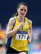 18 February 2017; Ciara Mageean, UCD AC, Dublin, competing in the Women's 3000m Final during the Irish Life Health National Senior Indoor Championships at the Sport Ireland National Indoor Arena in Abbotstown, Dublin. Photo by Brendan Moran/Sportsfile