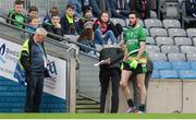 19 January 2017; Enda McWilliams of Rock St Patrick's leaves the field after being shown a red card by referee Jerome Henry during the AIB GAA Football All-Ireland Junior club championship final match between Rock St. Patrick's and Glenbeigh-Glencar at Croke Park in Dublin. Photo by Piaras Ó Mídheach/Sportsfile