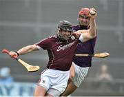 19 February 2017; Aidan Harte of Galway in action against Paul Morris of Wexford during the Allianz Hurling League Division 1B Round 2 match between Galway and Wexford at Pearse Stadium in Galway. Photo by David Maher/Sportsfile