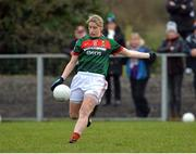 19 January 2017; Cora Staunton of Mayo kicking a point during the Lidl Ladies Football National League round 3 match between Armagh and Mayo at Clonmore in Armagh. Photo by Oliver McVeigh/Sportsfile