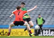 19 January 2017; Pádraig Ward of Rock St Patrick's shoots to score his sides first goal during the AIB GAA Football All-Ireland Junior club championship final match between Rock St. Patrick's and Glenbeigh-Glencar and at Croke Park in Dublin. Photo by Eóin Noonan/Sportsfile