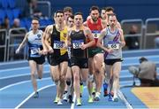 19 February 2017; A general view of the field during the Men's 3000m Final during the Irish Life Health National Senior Indoor Championships at the Sport Ireland National Indoor Arena in Abbotstown, Dublin. Photo by Sam Barnes/Sportsfile