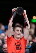 19 January 2017; Glenbeigh-Glencar captain Colin McGillycuddy lifts the cup after the AIB GAA Football All-Ireland Junior club championship final match between Rock St. Patrick's and Glenbeigh-Glencar at Croke Park in Dublin. Photo by Piaras Ó Mídheach/Sportsfile