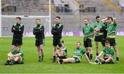 19 January 2017; Rock St. Patrick's players dejected after the AIB GAA Football All-Ireland Junior club championship final match between Rock St. Patrick's and Glenbeigh-Glencar at Croke Park in Dublin. Photo by Piaras Ó Mídheach/Sportsfile