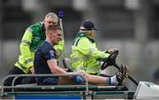 19 January 2017; Kevin Keane of St. Patrick's Wesport is helped off the field on a stretcher after picking up an injury in the first half during the AIB GAA Football All-Ireland Intermediate club championship final match between St. Colmcille's and St. Patrick's Westport at Croke Park in Dublin. Photo by Piaras Ó Mídheach/Sportsfile