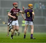 19 January 2017; Joe Canning of Galway runs out onto the pitch as a second half substitute during the Allianz Hurling League Division 1B Round 2 match between Galway and Wexford at Pearse Stadium in Galway. Photo by David Maher/Sportsfile