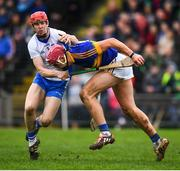 19 January 2017; Steven O'Brien of Tipperary in action against Tadhg de Burca of Waterford during the Allianz Hurling League Division 1A Round 2 match between Waterford and Tipperary at Walsh Park in Waterford. Photo by Stephen McCarthy/Sportsfile