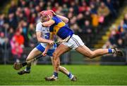 19 February 2017; Steven O'Brien of Tipperary in action against Tadhg de Burca of Waterford during the Allianz Hurling League Division 1A Round 2 match between Waterford and Tipperary at Walsh Park in Waterford. Photo by Stephen McCarthy/Sportsfile