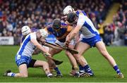 19 January 2017; Shane McNulty, left, and Kevin Moran of Waterford in action against Tipperary players, from left, Seamus Kennedy, Kieran Bergin and Brendan Maher during the Allianz Hurling League Division 1A Round 2 match between Waterford and Tipperary at Walsh Park in Waterford. Photo by Stephen McCarthy/Sportsfile