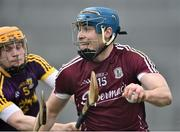 19 February 2017; Conor Cooney of Galway in action against Simon Donohoe of Wexford during the Allianz Hurling League Division 1B Round 2 match between Galway and Wexford at Pearse Stadium in Galway. Photo by David Maher/Sportsfile