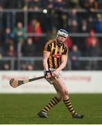 19 February 2017; TJ Reid of Kilkenny takes a free during the Allianz Hurling League Division 1A Round 2 match between Clare and Kilkenny at Cusack Park in Ennis. Photo by Diarmuid Greene/Sportsfile