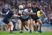 19 February 2017; Graham Reilly of St Colmcille's in action against St. Patrick's Westport players, from left, David Horan, Lee Keegan, Brian O'Malley and Shane Scott  during the AIB GAA Football All-Ireland Intermediate club championship final match between St. Colmcille's and St. Patrick's Westport at Croke Park in Dublin. Photo by Piaras Ó Mídheach/Sportsfile