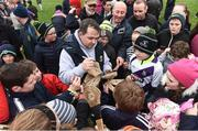 19 February 2017; Wexford manager Davy Fitzgerald signs autographs for supporters at the end of the Allianz Hurling League Division 1B Round 2 match between Galway and Wexford at Pearse Stadium in Galway. Photo by David Maher/Sportsfile