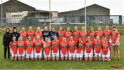 19 February 2017; The Armagh squad before the Lidl Ladies Football National League round 3 match between Armagh and Mayo at Clonmore in Armagh. Photo by Oliver McVeigh/Sportsfile
