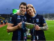 19 February 2017; Lee Keegan, left, of St. Patrick's Westport celebrates with Phil Keegan after the AIB GAA Football All-Ireland Intermediate club championship final match between St. Colmcille's and St. Patrick's Westport at Croke Park in Dublin. Photo by Eóin Noonan/Sportsfile