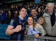 19 February 2017; Lee Keegan of St. Patrick's Westport celebrates with his girlfriend Aoife Duffy after the AIB GAA Football All-Ireland Intermediate club championship final match between St. Colmcille's and St. Patrick's Westport at Croke Park in Dublin. Photo by Eóin Noonan/Sportsfile