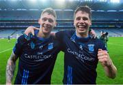 19 February 2017; Lee Keegan of St. Patrick's Westport, right, celebrates with Phil Keegan, left, after the AIB GAA Football All-Ireland Intermediate club championship final match between St. Colmcille's and St. Patrick's Westport at Croke Park in Dublin. Photo by Eóin Noonan/Sportsfile